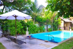 Der Poolbereich der Ayurveda Shunyata Villa ~ Sri Lanka