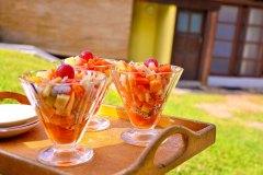 Leckere Früchtebecher während der Ayurveda Kur
