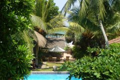 Schöne Aussichten: Vom Balkon der Junior Suite 4 des Ayurveda Resorts