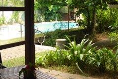 Blick von der Terasse des Superior Zimmer 1 der Ayurveda Shunyata Villa ~ Sri Lanka