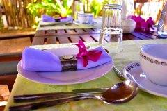 Ayurveda Mahlzeiten im Beach-Restaurant der Ayurveda Shunyata Villa