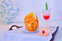Leckere und gesunde Trink-Kokosnuss während der Ayurveda Kur