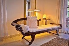 Junior Suite 5 Wohnbereich der Ayurveda Shunyata Villa