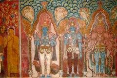 Wandmalereien in Tempeln auf Sri Lanka